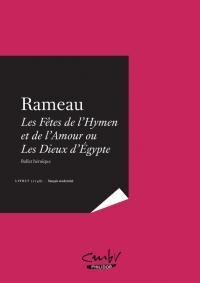 RAMEAU, Les Fêtes de l'Hymen et de l'Amour 1748 Paris - français modernisé